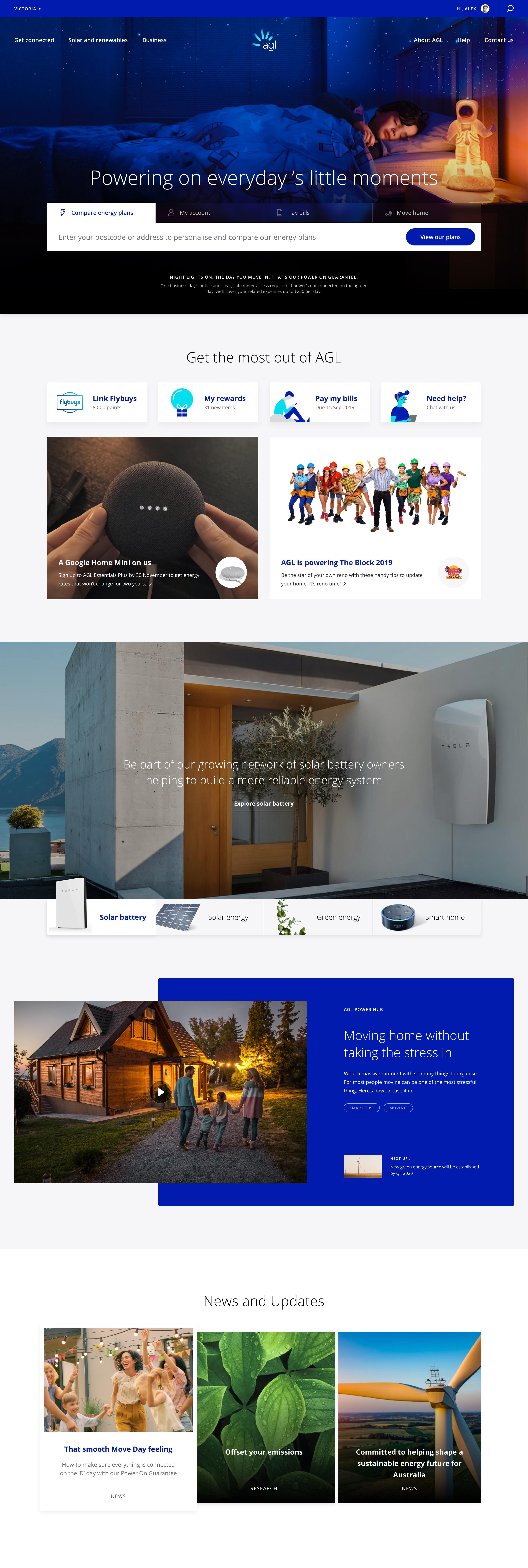 Homepage – Desktop